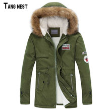 TANGNEST Male Coat Hooded 2018 Men's Warm Korean Style Padded Jacket Male Hooded Casual Winter&Autumn Coats M-3XL MWM495(China)
