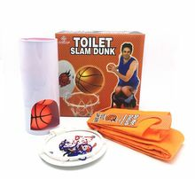 New funny toy Best Offer Buy Novelty Toilet Bathroom Basketball Slam Dunk Game Toy Set Sale High Quality