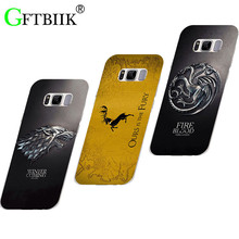 "Cute Cartoon Case For Samsung Galaxy S8 Plus S8+ SMG955 6.2"" Hard Plastic Case Fashion Printed Football Cover Game of Thrones 7"