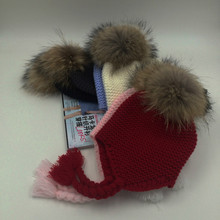 All for Baby Clothes Accessories Kids Casual Bomber Baby Hat Warm Knitted Brand Design Factory Made Cheap Cap with 14cm FurPom