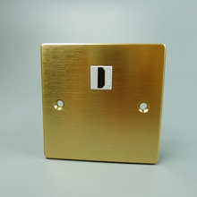 Aluminum HDMI wall plate with golden color and short cable