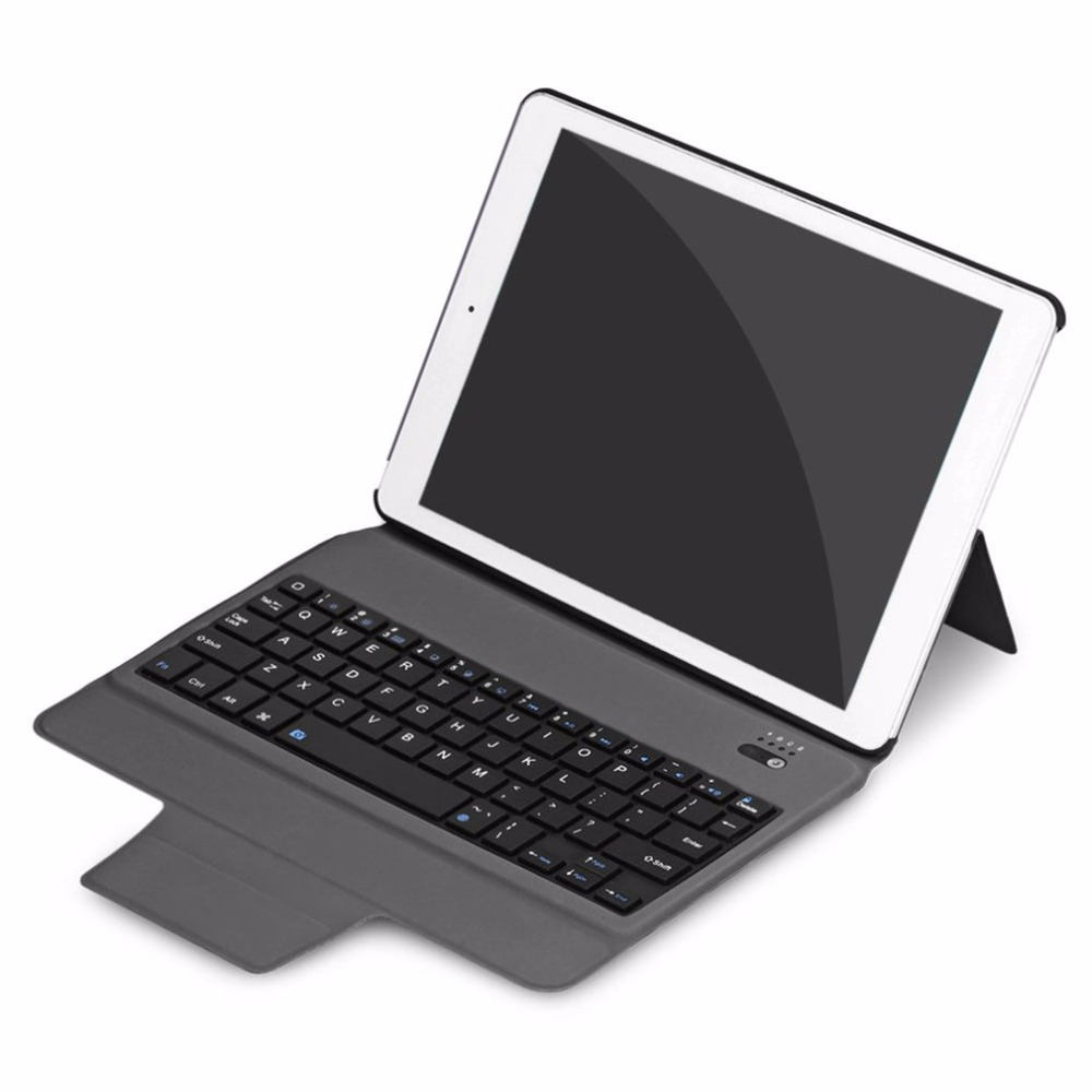 Lightweight Wireless Bluetooth Keyboard PU leather Full Body Protective Keyboard Case Suitable for 2017 Ipad 10.5<br>