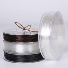0.5-1.0mm DIY Crystal Beading Stretch Cord Elastic Line Transparent Clear Round Beading Wire/Cord/String/Thread Jewelry Making(China)