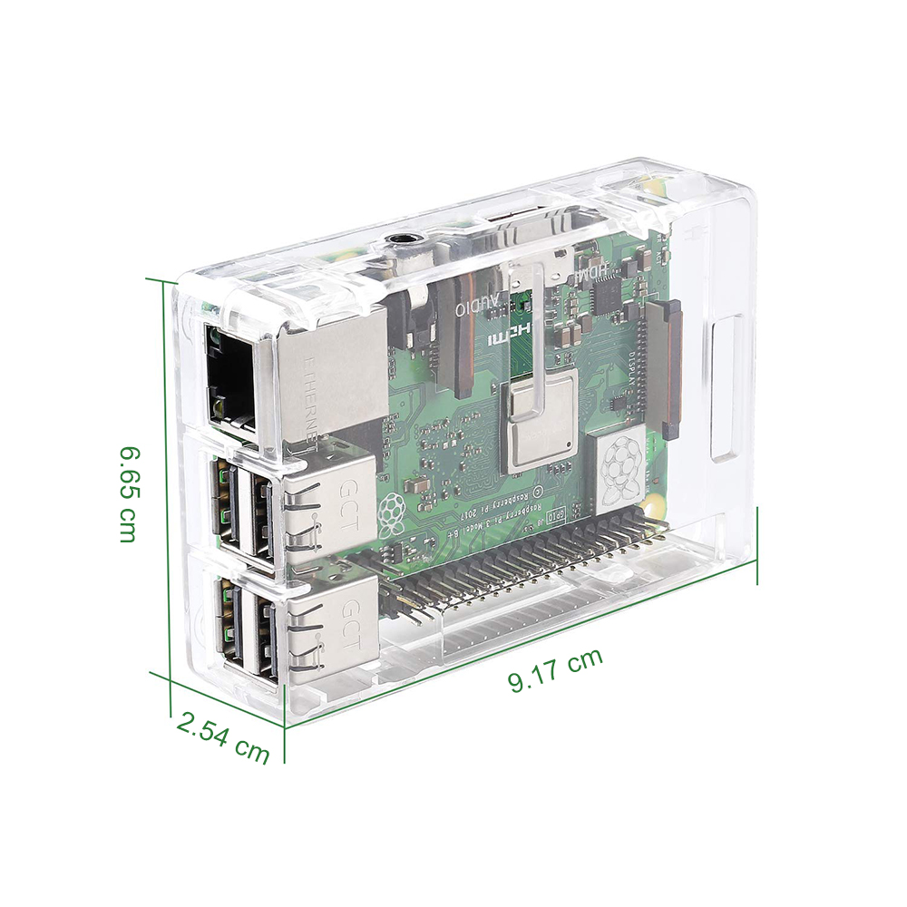 Raspberry Pi 3 Model B case Transparent for Raspberry Pi 3 Model B+ , Pi 3 Model B