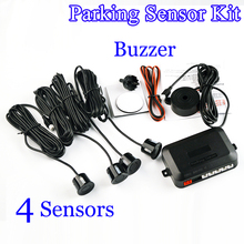 Viecar 4 Sensors Buzzer 22mm Car Parking Sensor Kit Reverse Backup Radar Sound Alert Indicator Probe System 12V 8 Colors(China)