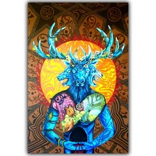 Mastodon-Band Heavy Metal Art Abstract Trippy Psychedelic Image for Wall Decoration Silk Fabric Print Posters YL288(China)