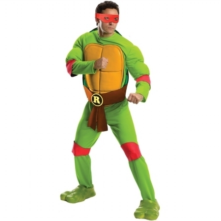 Rubies 217529 Teenage Mutant Ninja Turtles Deluxe Raphael Adult Costume - Standard - One Size (1)