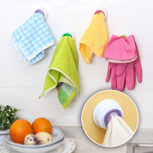 Washing Towel Hooks Hanger Sucker Bathroom Wall Window Round Towel Holder Kitchen Accessories Tool New Style 2pcs