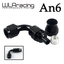 WLRING STORE- Black High Quality PTEF AN6 AN-6 90 DEGREE REUSABLE SWIVEL TEFLON HOSE END FITTING AN6 WLR-SL6090-06-021