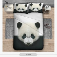 New Arrive lovely Panda 3D Printing Pattern Bedding Sets Comfortable Polyester Bedding Sets 1Pcs Duvet Cover + 2Pcs Pillowcase