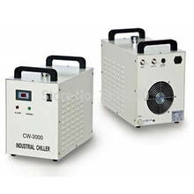 1pc High quality Co2 laser chiller CW-3000AG 220V 50/60HZ for 80W CO2 glass laser tube