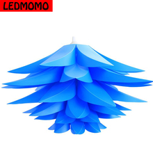 Creative DIY Lotus Chandelier PP Pendant Droplight Shade Ceiling Room Decoration Puzzle Lights Modern Lamp For Home Decoration