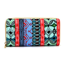 New Design Ultra Thin Female Cards Holders Zipper Wallet Coin Purses Print Girls Long Wallet Elegant Ladies Wallets(China)