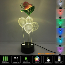 3D Led Night Lamp 7 color 3D LED Night light Balloons Visual Touch Switch Table Lamp Illusion Decoration Children Lamp ikebana