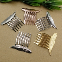20pc/Lot 6Teeth 6 Color Hair Tuck Comb Hair Bobby Pin clip,Antique Bronze/Gold/Silver/Black Hairpin DIY Handmade Vintage Jewelry