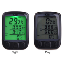 Sunding SD 563B Waterproof LCD Display Cycling Mixsight Bike Bicycle Computer Odometer Speedometer with Green Backlight Cycling(China)