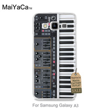 Protective PC Mobile Phone Case For GALAXY A3 2015 case  Keyboard Synthesizer Music