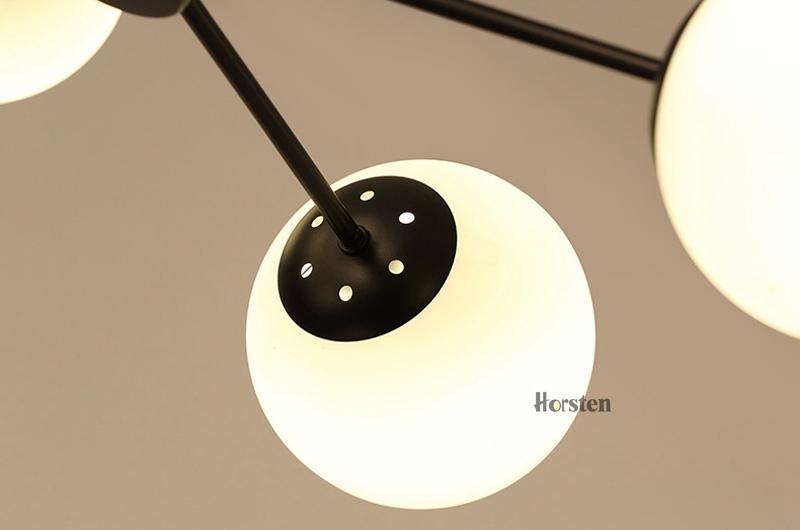 Horsten Nordic Creative Magic Bean Pendant Lights 6812 Heads Glass Ball Pendant Lamp For Living Dining Room Cafe Restaurant E27 (18)