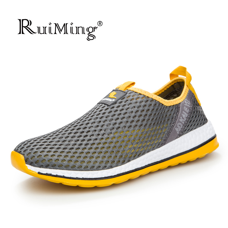 New 2017 Summer Style Men casual shoes, Super breathable Men flats Shoes Slip On Zapatillas walking summer Mesh Shoes<br><br>Aliexpress
