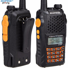 Baofeng UV-6R Portable Radio Pofung UV6R Two-Way Radios 5W 128CH UHF/VHF Dual Band Handled Professional FM Transceiver