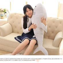 New 1pcs 100cm Big Size Shark Plush Toy The Cute Simulation Shark Soft Suffed Animals Doll Pillow Kids Baby toy Christmas Gifts(China)