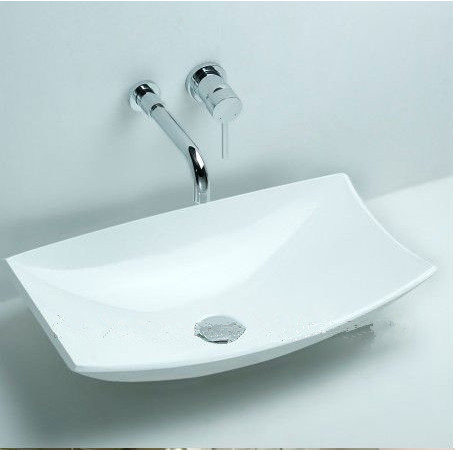 Free Shipping Rectangular Bathroom Counter Top Sink Made Of Solid - Best stone for bathroom countertop