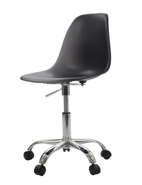 Modern Design Plastic and Steel Swivel Office computer Chair with 5 star Wheel Plastic shell chair swivel chair with gas lift(China (Mainland))
