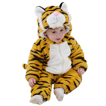 DOUBCHOW Babys Toddlers Cute Yellow Tiger Snowsuit Winter Thicken Newborn Baby Rompers Christmas Halloween Costume Baby Clothing