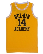 EJ Will Smith #14 The Fresh Prince Of Bel-Air Basketball Jersey Sewn Yellow(China)