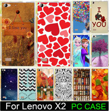For Lenovo Vibe X2 Cell Phone Case Cover Shell Capa Print Love You Moon Ballon Beer Anchor Leaf PC Painted Cases Free Shipping