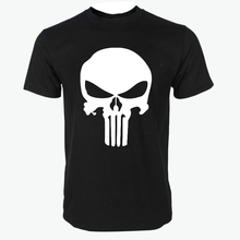 2016 summer new casual Punisher Skull Marvel t shirts for man streetwear hip hop Comics Supper Hero Men T-Shirt fashion Tops Tee