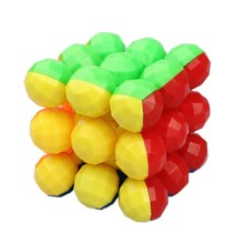 Listing Neo Balls Style Professional Magic Cube Style 3 x 3 x 3 Colorful Cool Brain Teaser puzzle cube Educational Toy(China)