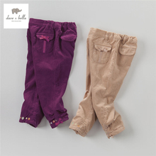 DB2973-B dave bella autumn fall baby girlsplum khaki pants babi trousers children bow pants girls trousers(China)
