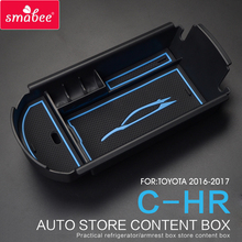 Automobiles suit  For TOYOTA C-HR 2016 2017 Car Central Armrest Box storage box  Interior Accessories Stowing Tidying  CHR BLUE