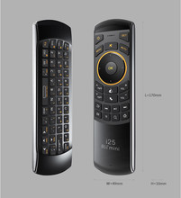 Russian Language  i25 3 in 1 Multifunction IR controller RF wireless keyboard for smart TV PC