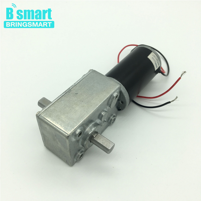 Free shipping 2pcs A58SW31ZYS 12-24V worm gear motor Dc Motor Electric Reverse Motor D Shaft Engine For Diy Experiment<br>