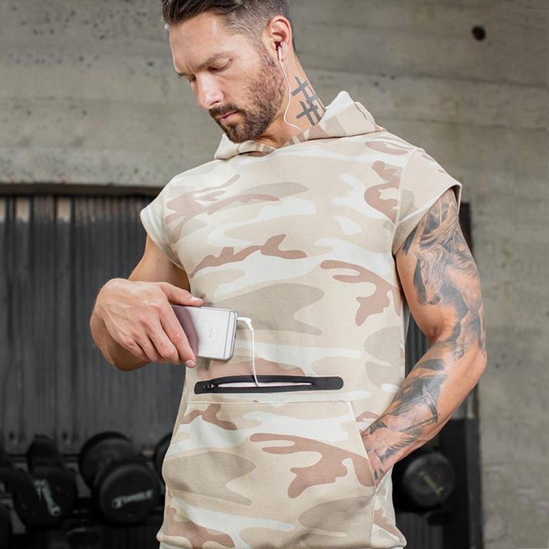 Camouflage fitness Men Sweatshirt-7A