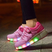 Led Adults Shoes Luminous  With Single Wheel Women Jazzy Roller Skate Shoe Female Shining Calzado Trasero Scarpeda Donna Flash