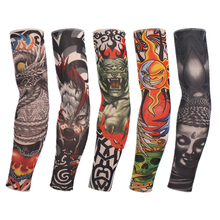 Fake Nylon Tattoo Arm Warmers Oversleeve Temporary Tattoo Arm Sleeves For  Exercise Sunscreen D0141