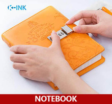 6 colors for choice , B6 Diary Book with metal lock for Daily Memos