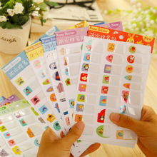 3PCS DIY Waterproof PVC Stickers Name Stickers Stationery Memo Pad Sticker Decoration The Best Gift for students boys and girls(China)