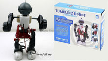 3 in 1 Tumbling Robot Assembly Toy Educational DIY Robotics Kits DIY Electronic Robot(China)