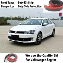 For Volkswagen VW Sagitar Vento New  Compact Bumper Lip Deflector Lips / Front Spoiler Skirt Auto Car Tuning View Body Kit Strip