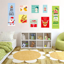 Christmas Snow Ball Removable Home Vinyl Window Wall Stickers Decal Decor Home Decoration Snowman Cartoon Window Sticker(China)