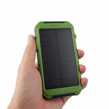 Universal 4000mAh Solar Panel Power Bank 2A 1A External Battery Pack Phone Charger Green Orange Yellow Wholesale