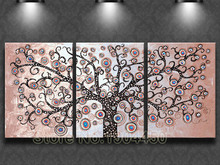 Framed Hand Painted Oil Painting On Canvas 3 pcs set Money Tree large abstract Tree Art picture wall art sitting room home decor