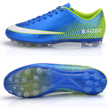 Professional Men's Kids Soccer Cleats Shoes FG Outdoor Soccer Shoes Football Trainers Sports Shoes All Size EU 33--44