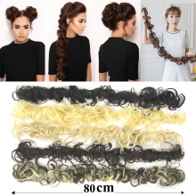 5pcs/lot Synthetic Hair Bun Curly Hair Extension Headband Hair Donut Roller Hairband Scrunchie UPDO Elastic Headwear Accessories(China)