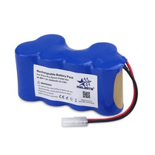 Melasta Rechargeable battery pack for Euro-Pro Shark vacuum clearner V1950 VX3 Ni-MH 7.2V 3500mAh 25.2Wh