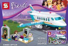 Girl Friends Heartlake Private Jet building block plane brick Olivia Matthew compatible With Legoingly 41100 toys(China)
